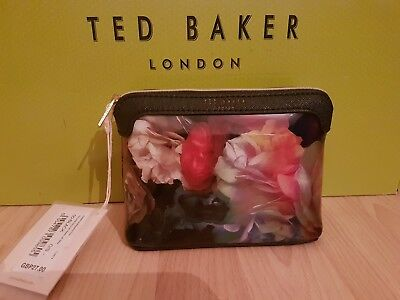 Ted Baker Small Technicolour Make Up/wash Bag-Black New Rrp £27