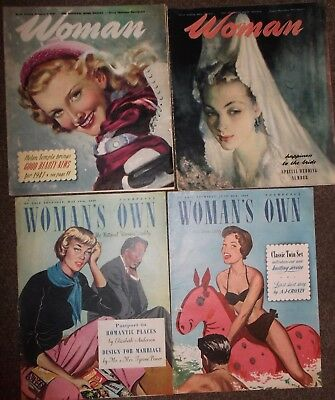 Vintage : Woman's Own & Woman Magazines : 1947 & 1949