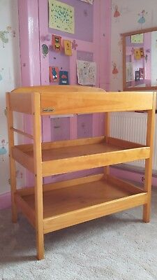 Baby changing station unit, changing table, wooden, East Coast