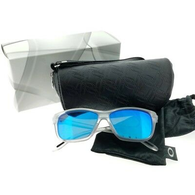 Oakley OO9298-09 Hold On Women's Clear Frame Blue Lens Genuine Sunglasses NWT