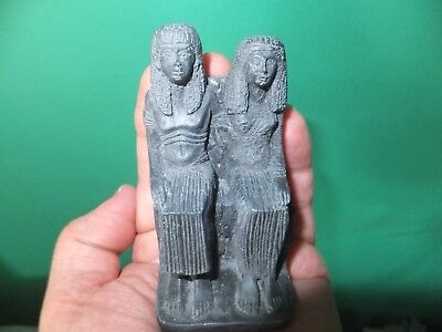Ancient Egyptian husband & wife funary statuette (repro)