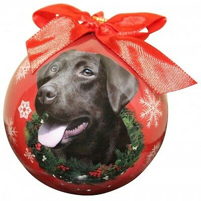 Labrador Retriever Chocolate Shatterproof Ball Dog Christmas Ornament