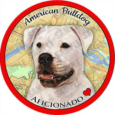 American Bulldog Absorbent Porcelain Dog Breed Car Coaster