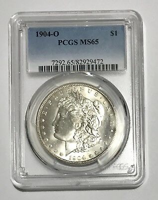1904 O Morgan Silver Dollar PCGS Graded MS-65 (GEM) White, Bright And Lustrous