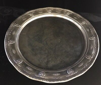 Wallace Sterling Silver Rose Point 6620 Round Tray