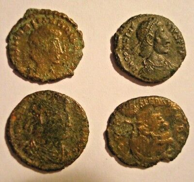 Four Ancient Roman Coins at reasonable price!