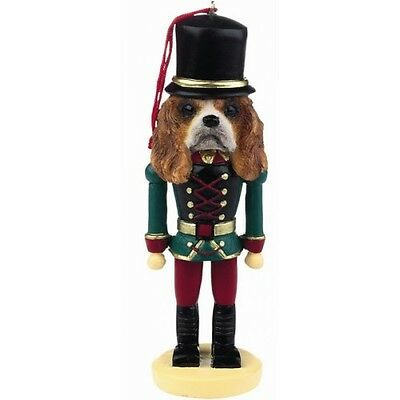 Cavalier King Charles Spaniel Red Dog Toy Soldier Nutcracker Christmas Ornament