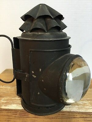 Antique Nautical Navigation Oil Signal Lantern Vintage Old Boat Ship Lamp Decor