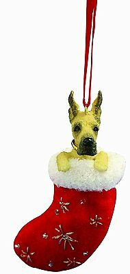 Great Dane Santa's Little Pals Dog Christmas Ornament