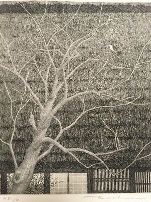 TANAKA RYOHEI - 1974 Roofs Of Hida #6 1/10AP Signed & Numbered Etching ! Large!