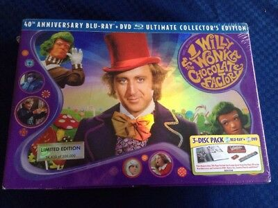 Willy Wonka and the Chocolate Factory Blu-ray 3-Disc Ultimate Collectors Edition