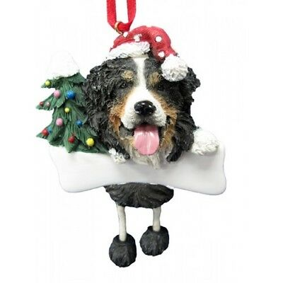 Bernese Mountain Dog Dangling Wobbly Leg Dog Bone Christmas Ornament