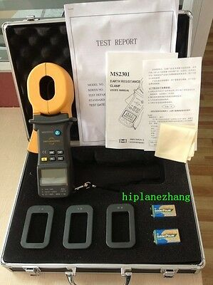 Hi-accuracy 0.01ohm Clamp On Ground Earth Resistance Tester Meter 1200ohm MS2301