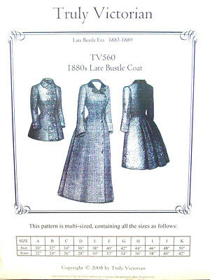 TRULY VICTORIAN SEWING Pattern TV263 Late Victorian Imperial Bustle ...
