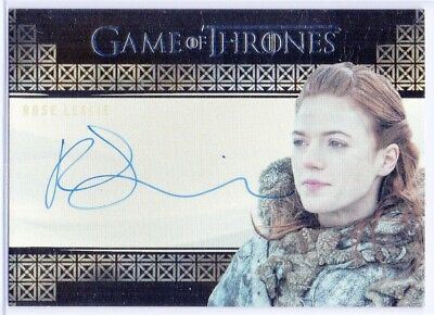 Game of Thrones Valyrian Steel ROSE LESLIE as YGRITTE AUTOGRAPH On-Card Auto