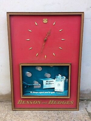 Vintage 70's Benson & Hedges Advertising Sign/Clock