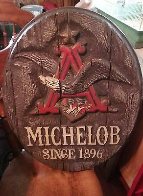 Vintage Anheuser Busch Michelob Brand Beer Advertising Plastic Wall Sign