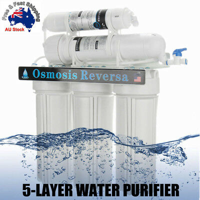 Premium 5 Stage Undersink Water Filter System Driking Home Membrane Purifier