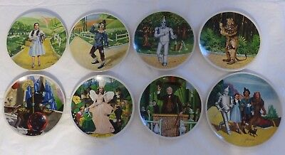 8 Wizard Of Oz Collector Plates COMPLETE SET Knowles / Auckland / MGM