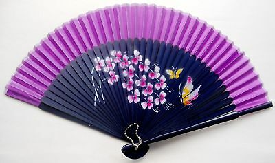 2017 New Chinese Traditional Process Bamboo Folding Silk HAND FAN Wedding Party