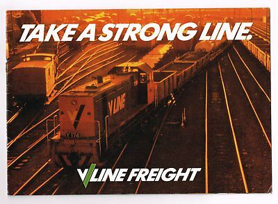 Take A Strong Line. V/Line Freight.