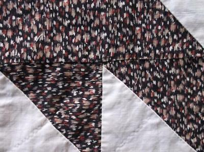 Back In Time Textiles~2 Rare Antique 1830 quilt blocks amazing EARLY fabric