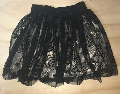 Holiday Editions Black Lace/Gold Skirt - 7-8 (Medium)