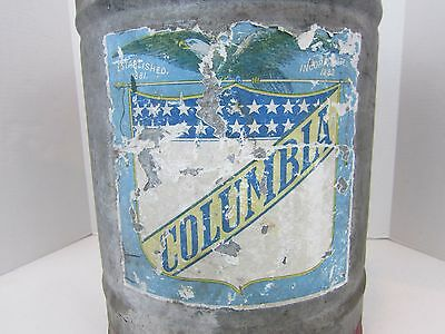 Antique Oil Can Columbia 1910 Winfield MFG  W / Green Eagle