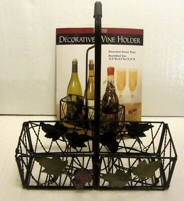 Tuscany Collection Decorative Metal Wine Holder/ Basket--Holds 3 Bottles--New!!