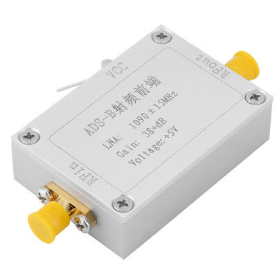 ADS-B 1090MHz RF Front-end Radio Frequency Amplifier 38dB Gain LNA SMA Interface