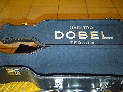 Maestro Dobel Tequila Collectible Bottle Case w/ Chrome Handle and ID Tag