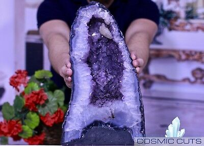 Amethyst Geode Crystal Cluster Cathedral CosmicCuts CT-4g