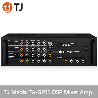 TJ Media TA-G201 Kraoke Machine DSP Mixer 2ch Amplifier