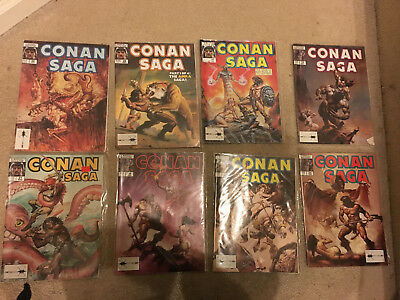 Conan Saga 29,24,13, 60, 38, 30, 28 and 31 an 8 issue lot VF and above