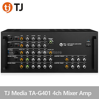 TJ Media TA-G401 Kraoke Machine DSP Mixer 4ch Amplifier