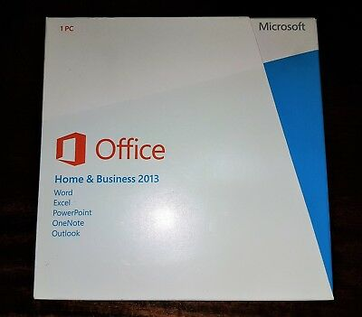 Microsoft Office Home and Business 2013 Retail Kit with DVD and Key Card