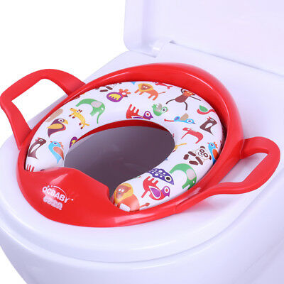 QCBABY Kids Potty Training Toilet Seat Ring Cover Increase Thickening Red