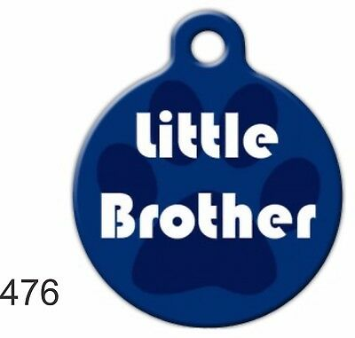 Pet Tags Personalized Pet ID tag Dog Cat Collars Tags Little Brother Made In USA