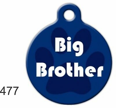 Pet Tags Personalized Pet ID tag Dog Cat Collar Tag Big Brother Cute Made In USA