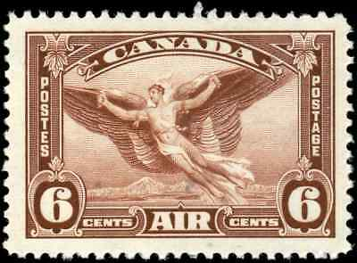 Canada #C5 mint VF OG NH 1935 Airmail 6c red brown Daedalus in Flight CV$9.00