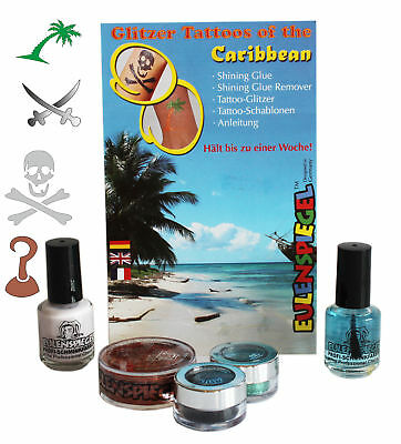 Glitzer Tattoo-Set Caribbean