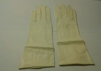 Dayne Taylor Gloves Vintage 100% Leather Silk Lined Soft Black Made In Italy