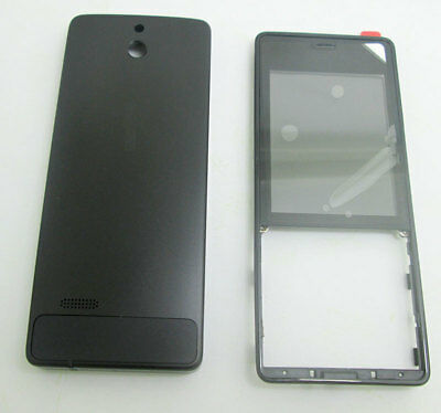 For Nokia 515 RM952 RM-952 Front Panel Housing Cover Battery Door Case Black