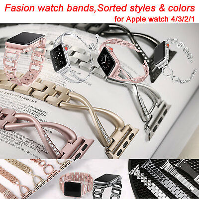 Stainless Steel Watch Band Strap for Apple Watch iWatch 38m 42mm Serial 1 2 3