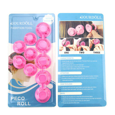 10PCS Silicone Handed Hair Curler Magic Hair Care Rollers No Heat Hair Styling