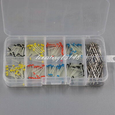 160 Pcs Dental Thread Quartz Glass Fiber Post Straight Pile + 32 Pcs Drills Set