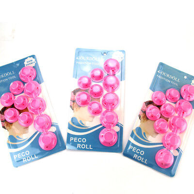30PCS DIY Silicone Hair Curler Hair Care Rollers No Heat Hair Styling Tool