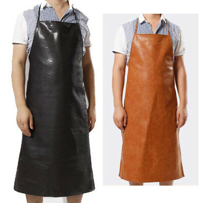 Leather Apron Waterproof Anti-Oil Restaurant Cooking Chef Bib Kitchen&Garden AU