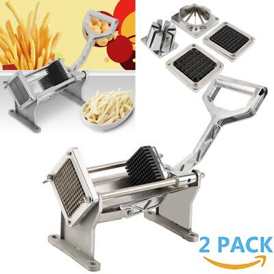 Potato French Fry Fruit Vegetable Cutter Slicer Commercial Quality 3/4 Blades US