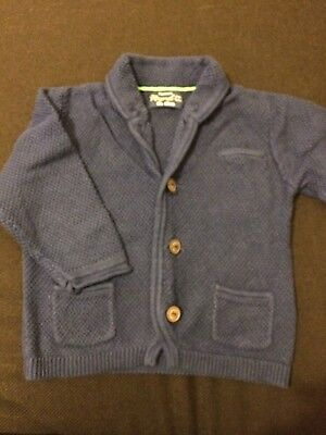 Mayoral baby boys blue cardigan with cotton (6m) 68cm
